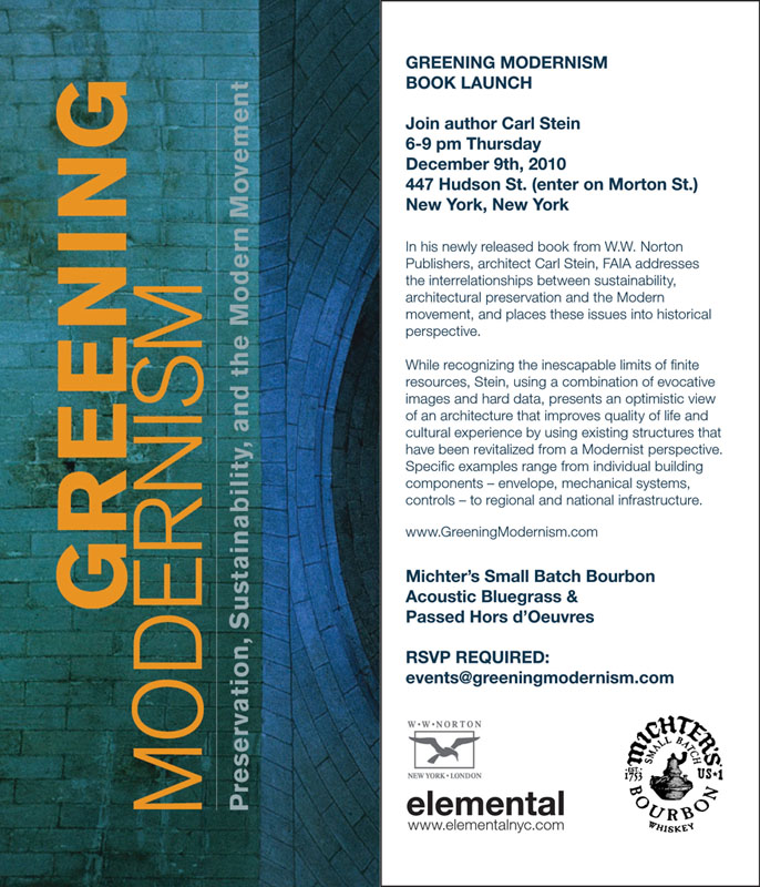 Greening Modernism Book Launch